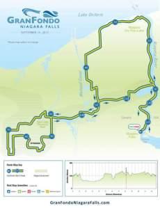 GranFondo Niagara Falls planned route