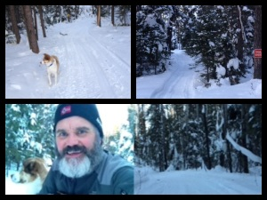 Happy shoe tester, and the snowy proving grounds