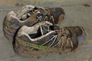 Didn't take long to get these shoes really muddy!
