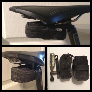 My road bike seat pack - its not much larger than the tube itself