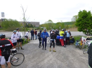 Fully stocked aid stations greeted us on the route