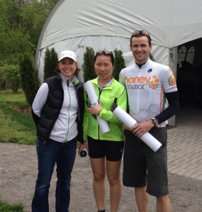 3 of 4 Gran Fondo Niagara Falls Blog Ambassadors! Laura, Cherry, and I