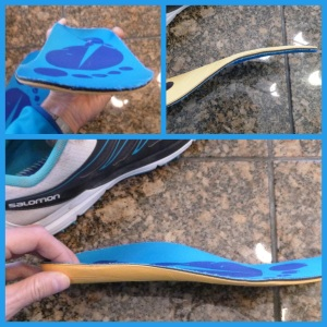 After heating, molding, and cooling the insoles hold the shape of the shoe and foot