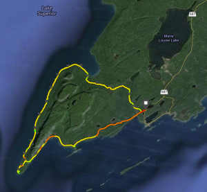 Our route around the Sleeping Giant