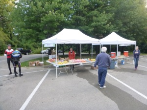 Beat the early crowds to one of the many aid stations on course