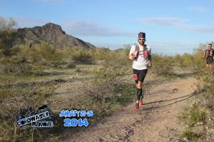 Racing the Coldwater Rumble 52K. Photo from: Aravaipa Running