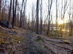 Sunrise over Silver Mine Lake