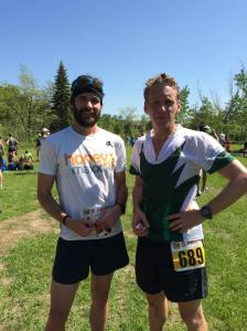 Happy post-racers - Mike Post and I after the enduro race (Photo Credit - Alison Post)