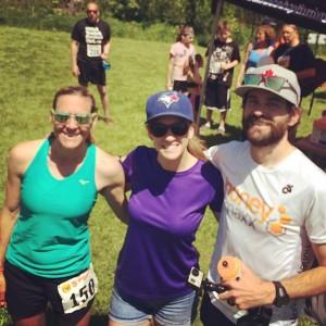 5 Peaks Ontario Ambassador Team - Michelle Clarke, Jessica Kuepfer, Kent Keeler