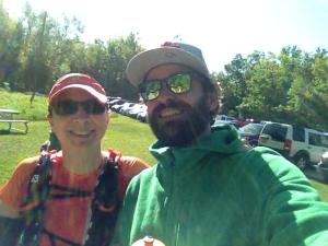 Rhonda and I at a 5Peaks Trail Race this summer