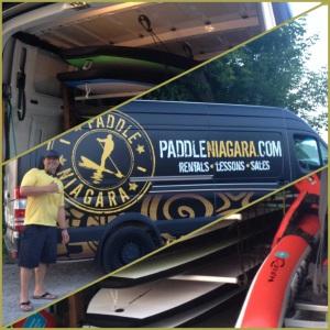 Tim Bala and the Paddle Niagara mobile!