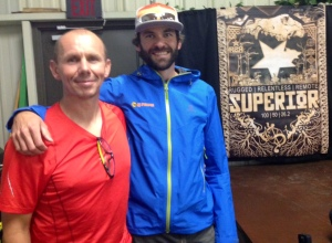 Ian Corless, host of my favourite podcast TalkUltra, and I at the pre-race meeting