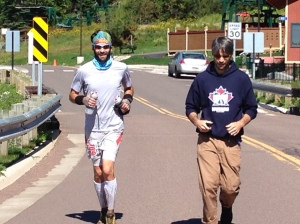 My bro Todd joined me for the last kilometre