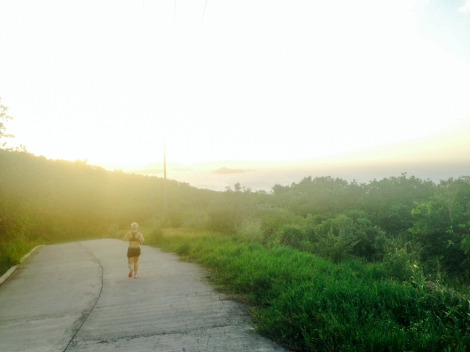 Late afternoon is the perfect time to run on Virgin Gorda with cooler temps and sunsets